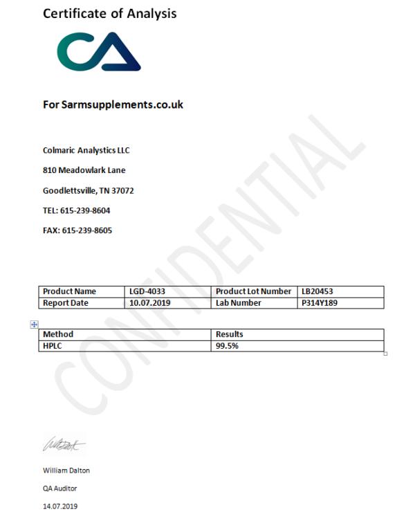 LGD - 4033 Ligandrol